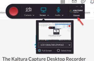 kaltura capture software manage link