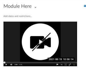 kaltura embedded in module description area