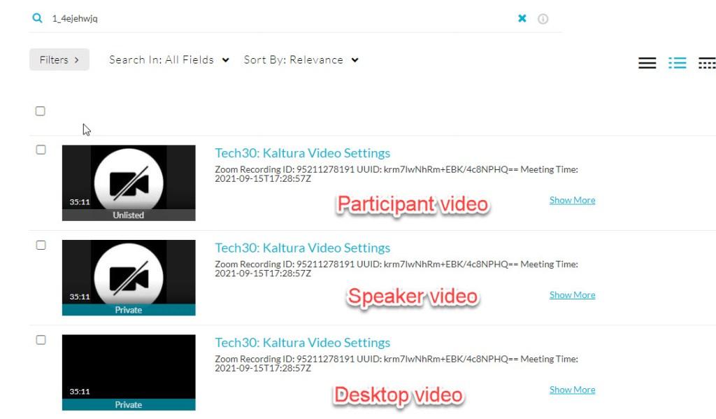 kaltura multi source video see all videos