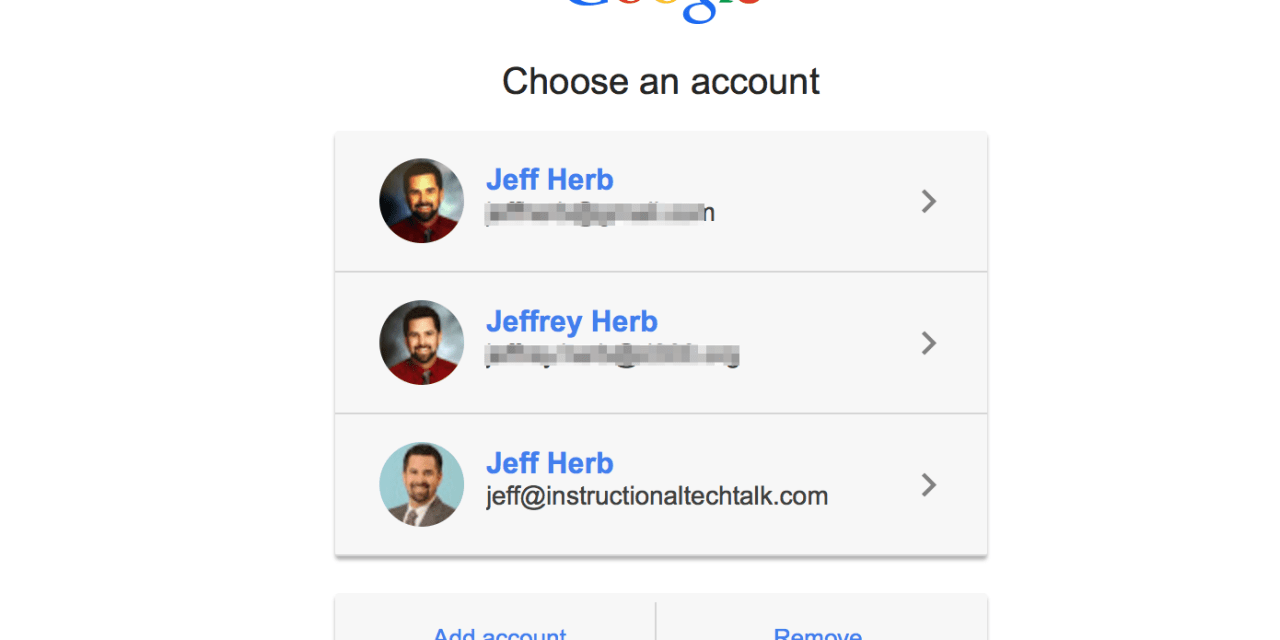remove google accounts from the sign in list instructional tech talk