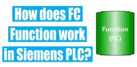 How does a FC function work in Siemens PLC?