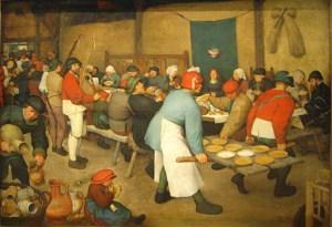 Le Repas de noce ou La Noce paysanne de Pieter Brueghel l'Ancien