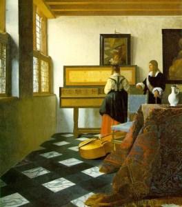 La leçon de musique de Johannes Vermeer