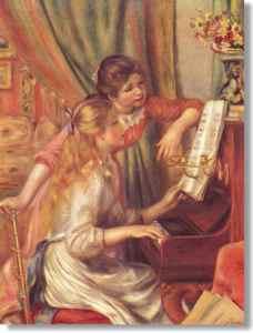 Jeunes filles au piano d'Auguste Renoir