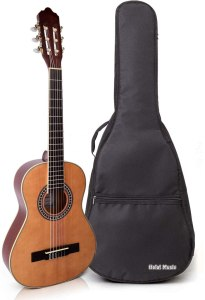 Classical Guitar with Soft Nylon Strings by Hola! Music, Half 1/2 Size 34 Inch for Junior Kids Model HG-34GLS