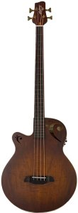 Sawtooth Left-Handed Rudy Sarzo Signature Fretless Acoustic-Electric Bass Guitar with Padded Gig Bag