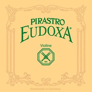Pirastro Violin String Eudoxa Set, Medium Handmade Wound Covered Gut Strings, Premium Strings for Professional and Advanced Student Violin Players, Traditional Replacement Accessory