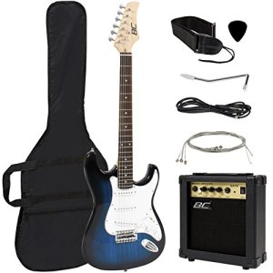 Best Choice Products 39in Full Size Beginner Electric Guitar Starter Kit