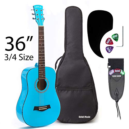 3/4 Size (36 Inch) Acoustic Guitar Bundle Junior/Travel Series by Hola!
