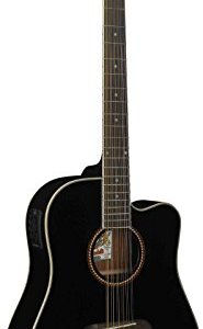 Oscar Schmidt 12-String Acoustic Electric Guitar. Black
