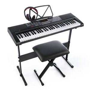 Joy 61 Standard Keys Keyboard with USB Music Player, Including Headphone