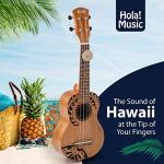 Hola! Music HM-121TT+ Laser Engraved Mahogany Soprano Ukulele Bundle with Aquila Strings, Padded Gig Bag, Strap and Picks – Tribal Tattoo 2