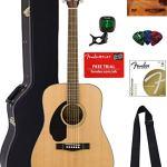 Fender Solid Top Dreadnought Acoustic Guitar, Left Handed