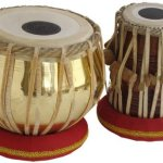 Queen Brass Tabla Drums Set-Goldenbrass Bayan 2.5Kg-Sheesham Wood