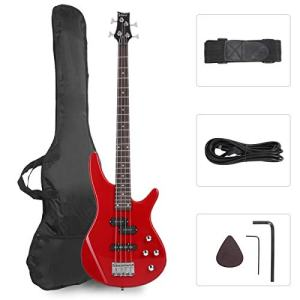 GLARRY Bass Guitar Full Size 4 String Exquisite Stylish Bass