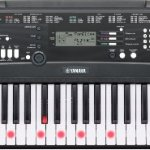 Yamaha EZ-220 61-Lighted Key Portable Keyboard Package with Headphones, Stand and Power Supply 1