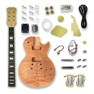 DIY Electric Guitar Kits For LP Guitar, Okoume Body, Maple Neck