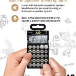 Teenage Engineering PO-32 Pocket Operator Tonic Drum Synth Bundle with Blucoil 3-Pack of 7″ Audio Aux Cables, and 4 AAA Batteries 3