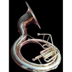 """INDIAN HANDMADE BRASS FINISH SOUSAPHONE BRASS MADE TUBA MOUTH PIECE WITH CARRY BAG 25"""""""