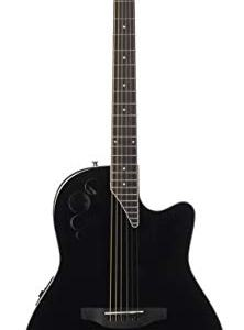Ovation Applause 6 String Acoustic-Electric Guitar, Right, Black