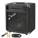 New Donner 25W Bass Guitar Amplifier DBA-2 Electric Practice Bass