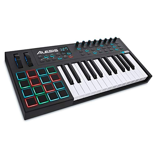 Alesis VI25 | 25-Key USB MIDI Keyboard Controller with 16 Pads