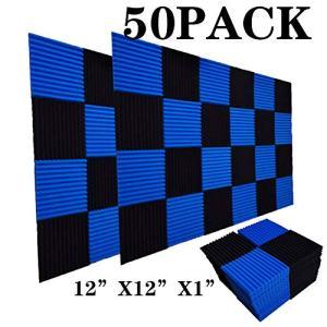 50 Pack Acoustic Panels Soundproof Studio Foam for Walls Sound