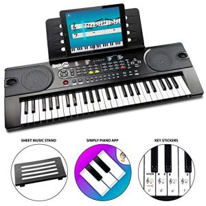 RockJam 49-Key Portable Electric Keyboard Piano With Power Supply