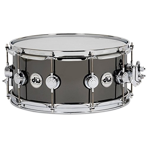 """DW Collector's Series Metal Snare - 8"""" x 14"""" Black Nickel over Brass"""