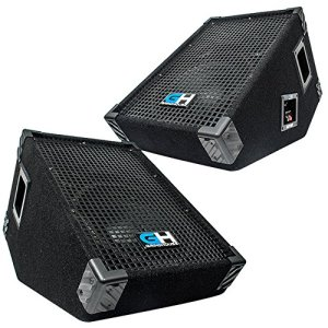 Grindhouse Speakers - Pair of 10 Inch Passive Wedge Floor / Stage Monitors