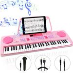 WOSTOO Electric Keyboard Piano for Kids-Portable 61 Key Electronic