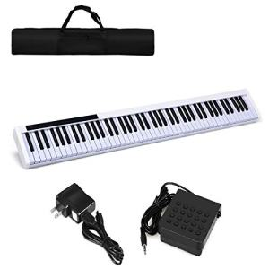 Costzon 88-Key Portable Digital Piano,Weighted Key Piano
