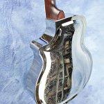 Imperial Royall Trifecta Engraved Tricone Cutaway Brass Body Resonator Guitar 2