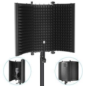Neewer Microphone Isolation Shield - Foldable Tri-Fold Studio Mic Sound