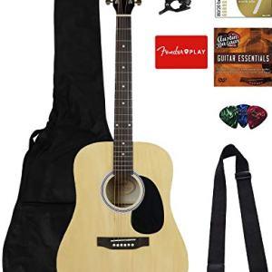 Fender Squier Dreadnought Acoustic Guitar - Natural Bundle