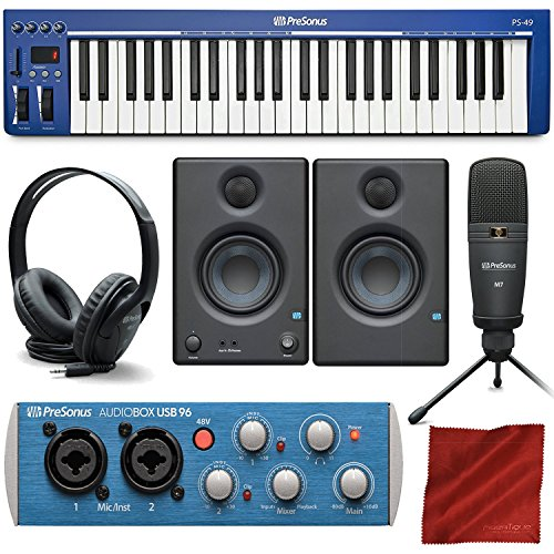 PreSonus PS49 USB 2.0 MIDI Keyboard with Presonus AudioBox USB