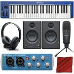 PreSonus PS49 USB 2.0 MIDI Keyboard with Presonus AudioBox USB 96 Audio Recording Interface, Studio One Artist 3 DAW Software for Mac & Windows, and Premium Music Creation Bundle