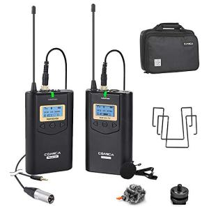 Wireless Lavalier Microphone Comica 48 Channels Professional Omnidirectional