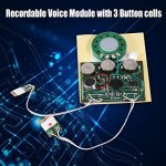 fosa 30s Music Sound Voice Recording Module Device Chip 0.5W with Button Battery for DIY Audio Cards(Photosensitive Control) 2