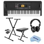 Korg EK-50 Entertainment Keyboard - Bundle With On-Stage Keyboard Stand/Bench