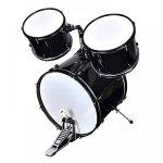 New Black Drum Set 5 PC Complete Adult Set Cymbals Full Size Adult Drum Set J05 2