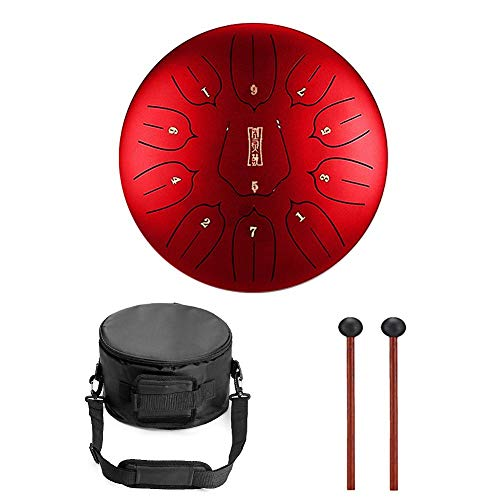 Niome 12 Inch Steel Tongue Drum 11 Notes w/Travel Bag and Mallets