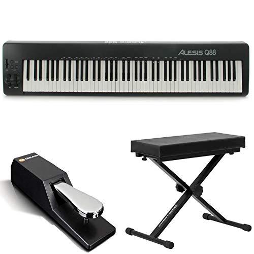 Alesis 88 Key USB/MIDI Keyboard Controller Q88 Works With Computer