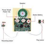 fosa 30s Music Sound Voice Recording Module Device Chip 0.5W with Button Battery for DIY Audio Cards(Photosensitive Control) 1