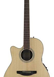 Ovation Celebrity Collection 6 String Acoustic-Electric Guitar, Left, Natural