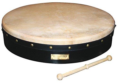 "Waltons Bodhrán 18"" (Tunable Black) - Handcrafted Irish Instrument"