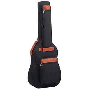 St.Oswalds Waterproof 41 42 Inch Acoustic Guitar Bag Extra Thick Padding Guitar Case Gig Bag Lightweight Multi-pockets Soft Guitar Backpack Case with Shoulder Strap