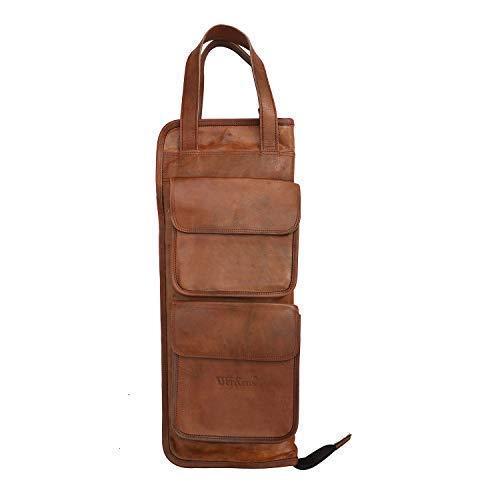 Genuine Leather Drumstick Bag 100% Original Leather Percussion Drum