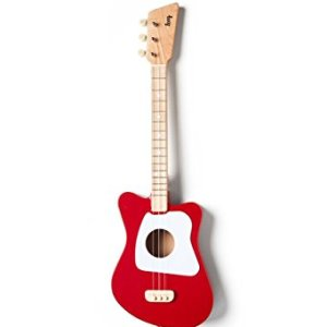 Red Mini Acoustic Guitar for Children and Beginners