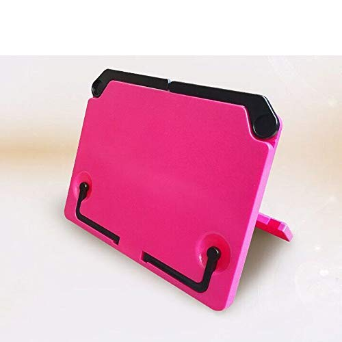 Music Stand Adjustable Book Holder Desk Portable Sturdy Lightweight Bookstands angle adjustable and Portable Book stand Document for iPad Laptop Music Score Tablature Cookbook Reading (Pink)